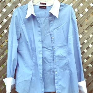 New York and Company button down shirt size m